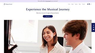 Music website templates - Music Lessons
