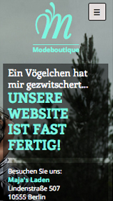 Mode website templates – Mode-Website im Aufbau