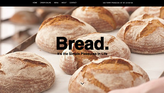 Cafe & Bakery website templates - Bread Shop & Delivery