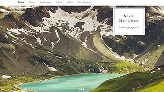 Travel & Documentary website templates - Photographer