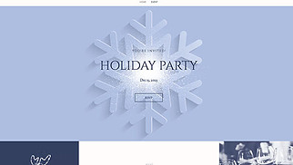 Events website templates - Holiday Party