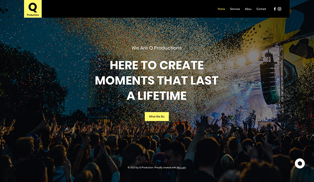 Imprezy website templates – Event Productions