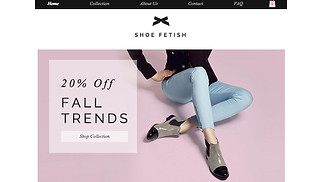 Accessories website templates - Shoe Store
