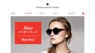 Jewelry & Accessories website templates - Eyewear Store