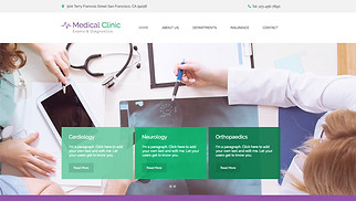 Health website templates - The Medical Clinic