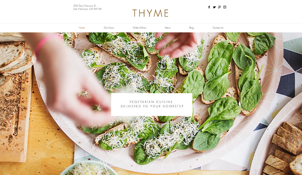 Restaurant website templates – Vegetarisch restaurant