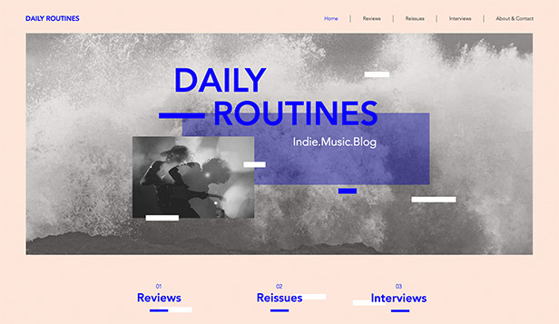 Podcast website templates – Indie muziek blog en podcast