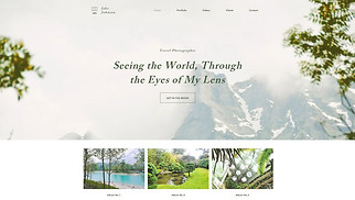 Photography website templates - Travel Photographer
