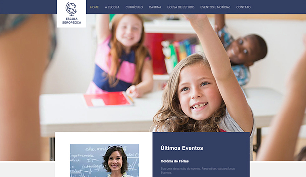 Escolas e Universidades website templates – Escola Primária