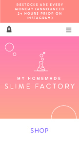 Arts & Crafts website templates – Slime Store