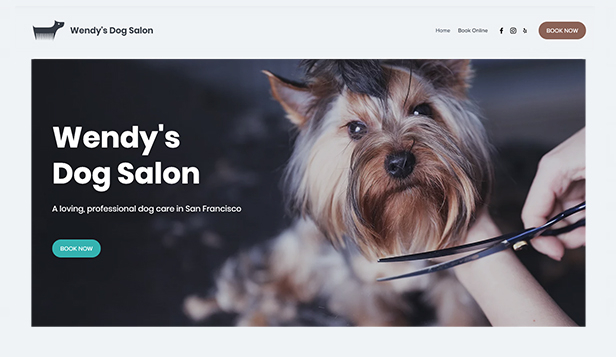 Business template – Toelettatura per cani