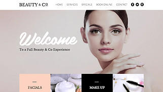 Beauty & Hair website templates - Beauty Salon