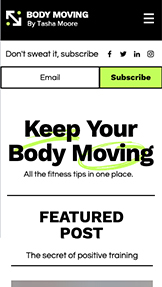 Blogg website templates – Fitness Blog