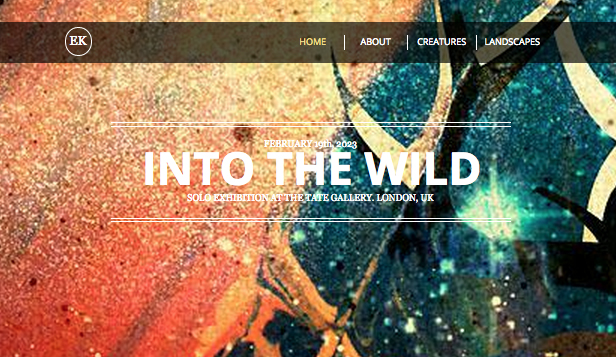 Design website templates – Artisten