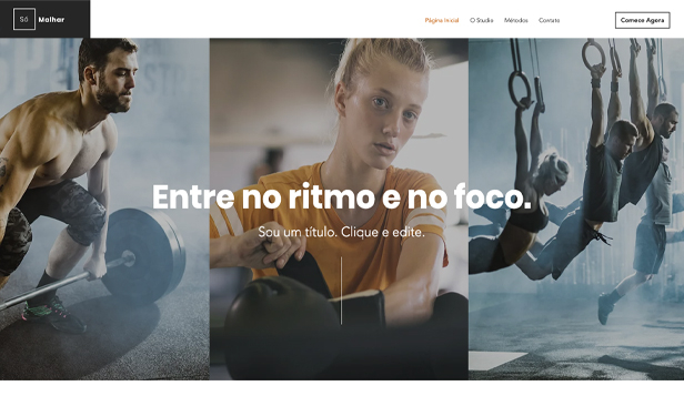 Novo website templates – Studio Fit