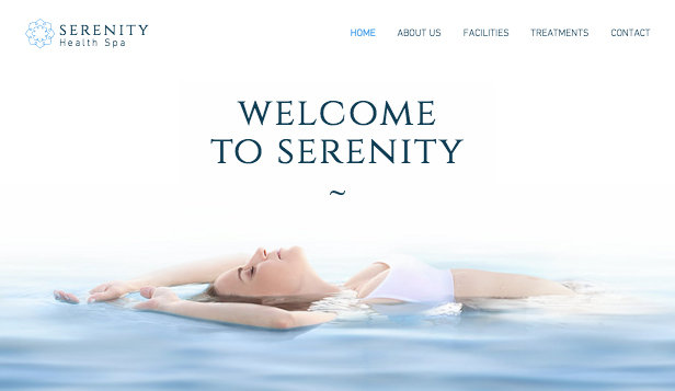 Wellness website templates – Spa-Blog