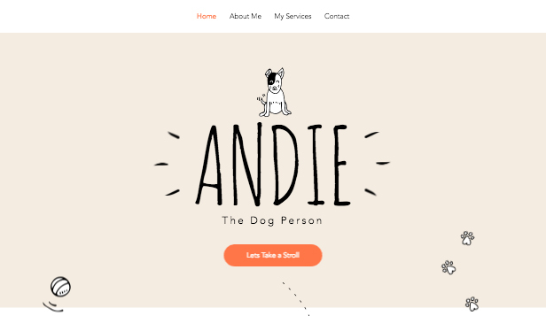 Business template – Dog sitter
