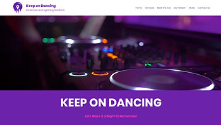 Events website templates - DJ