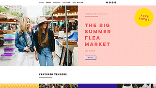 Events website templates - Flea Market