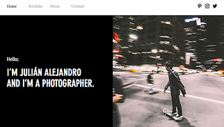 Photography website templates - Photography Portfolio