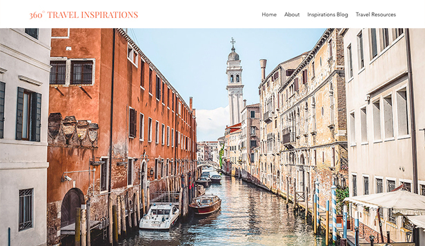 Essen & Reisen website templates – Reiseinspirationen