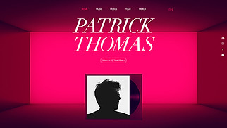 DJ & Producer website templates - Electronic Artist
