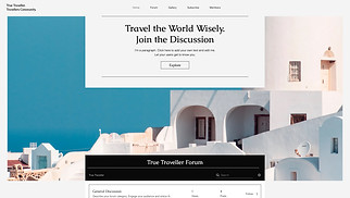 Travel & Tourism website templates - Travel Forum