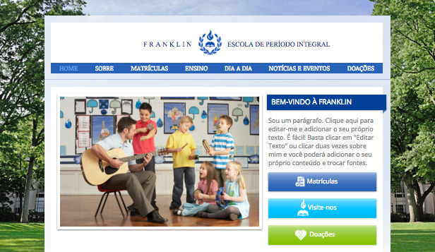 Escolas e Universidades website templates – Escola