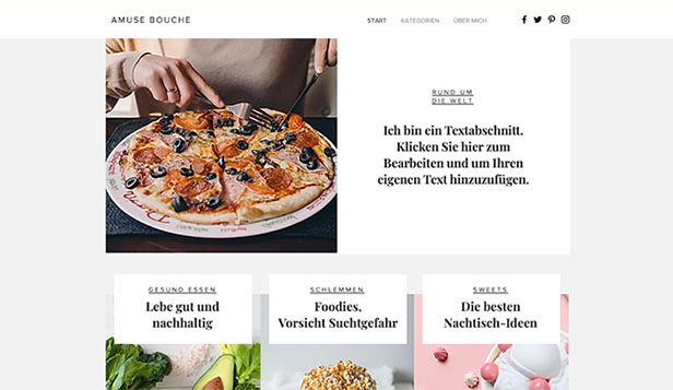 Restaurants & Essen website templates – Food-Blog