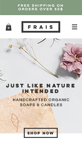 Home & Decor website templates – Natural Soap and Candle Store