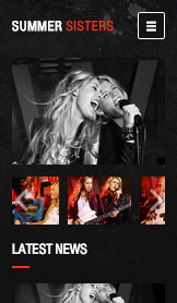 Musik website templates – County Rock