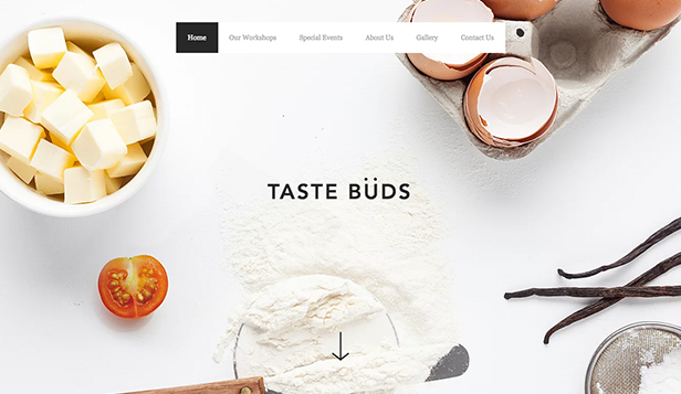 Restaurants en eten website templates – Koksschool