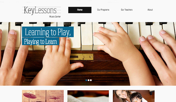 Utdanning website templates – Musikkskole