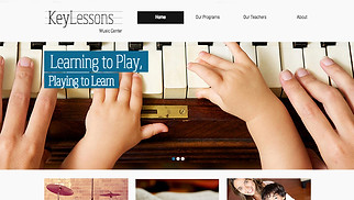 Music website templates - Music School