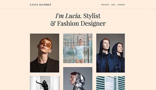 Mode-Design website templates – Persönliche Stylistin