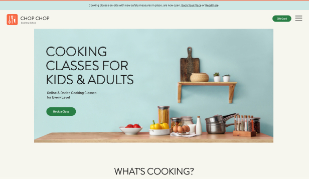 Istruzione online template – Cooking Classes