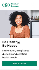 NEW! website templates – Registered Dietitian