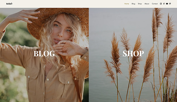 Portfolio i CV website templates – Influencer Blog