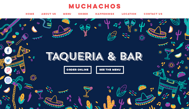 Bars en clubs website templates – Mexicaans tacorestaurant