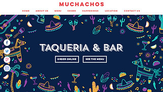 Restaurants & Food website templates - Mexican Taqueria