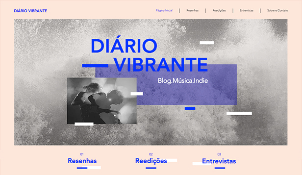 Indústria da Música website templates – Blog e Podcast sobre Música Indie