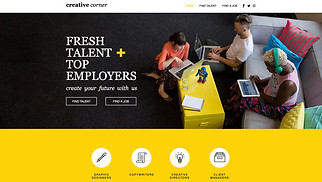 Advertising & Marketing website templates - Creative Staffing Agency