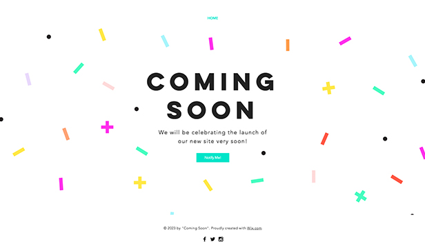 Eventi template – Pagina per Coming Soon