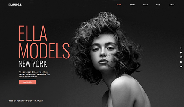 Mode en stijl website templates – Modellenbureau