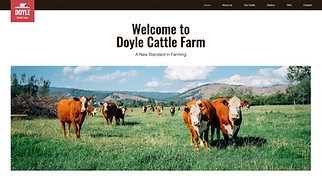 All website templates - Cattle Farm