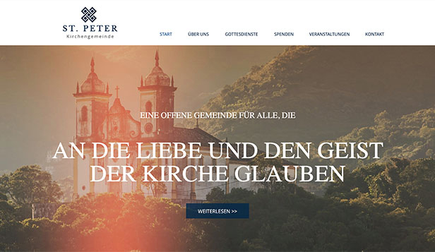 Religion website templates – Kirche