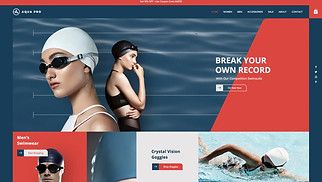 Sports & Outdoors website templates - Swimwear Store