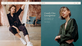 Online Store website templates - Loungewear Store