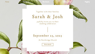 Events website templates - Romantic Wedding Invite