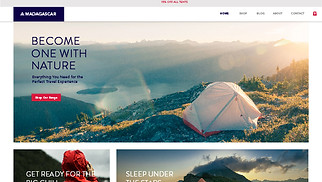 Sports & Outdoors website templates - Camping Equipment Store